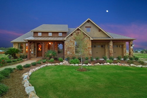Night shots can be stunning when done right!  This gorgeous shot is a model home (new construction) listed by Kathryn Castellanos of Builder Homesite, Inc.  No list price was provded, but similar homes in the development started at $261,990.