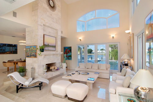 A gorgeous room with fantastic windows, showcased in a way sure to get the attention of luxury buyers.  This Florida home is listed by Burt Minkoff of Corcoran for $2,749,000.