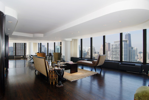 This gorgeous Chicago condo is listed for $1,895,000 by Jeff Lowe of Prudential Rubloff Properties.