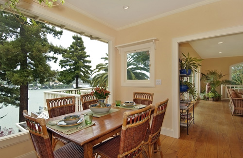 This dining area is beautifully captured, really highlighting the great selling features of this $1,850,000 home.  This property is listed by Janet Williamson of Frank Howard Allen.