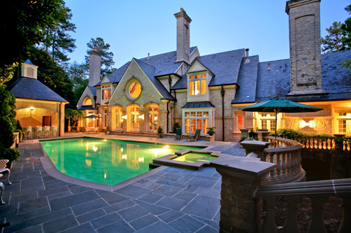 Stunning pool and outdoor living area in Alpharetta, Georgia.  This home is listed for $5,600,000 by Annemarie Russo of Harry Norman Realtors.  There are more great shots of the pool area of this home...click the photograph to see more.